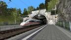 Sommerliche Fahrt im ICE nach Hoch Merzburg