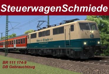 """[STWS] BR 111 174-9 """"DB Gebrauchtzug"""""""