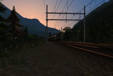 erste S-Bahn am Morgen Richtung Norden