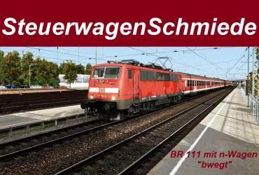 """[STWS] BR 111 mit n-Wagen betriebsverschmutzt """"bwegt"""""""