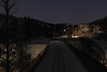 Moselweinbahn Verstärker am Abend