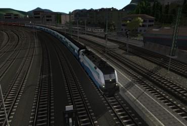 RJX 366 Salzburg Hbf - Zurich Hbf  ( Combined Route )