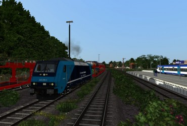 Autotransportzug nach Westerland