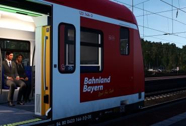 "[AL] DTG - BR 423 - ""Bahnland Bayern""-Schriftzug"