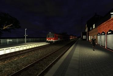 Regionalbahn nach Hamburg Altona am Abend